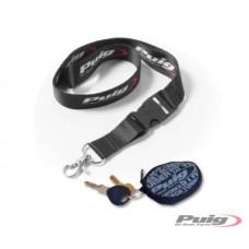 Bag for keys with zipper